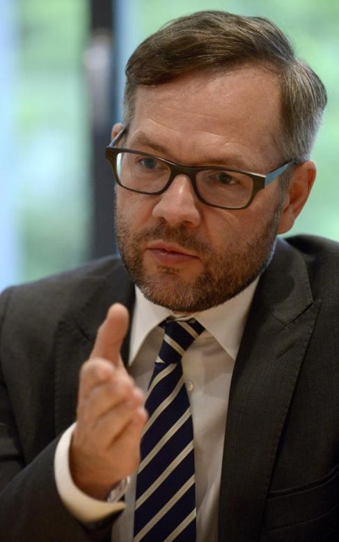Michael Roth, durante la entrevista en Madrid