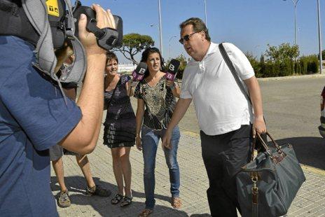 Francesc Buils a su llegada a la prisión de Palma el pasado 25 julio...
