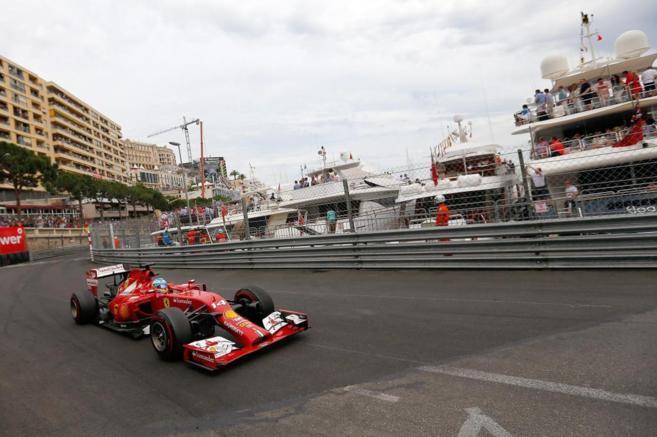 Fernando Alonso, durante el GP de Montecarlo.