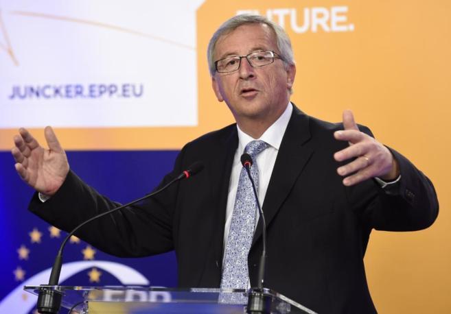 Jean-Claude Juncker, da una rueda de prensa tras conocerse los...