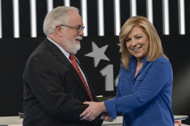Los candidatos del PP y PSOE a las generales, Miguel Arias Cañete y...