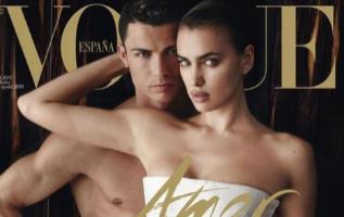 Cristiano e Irina, en la portada de Mario Testino para <a...