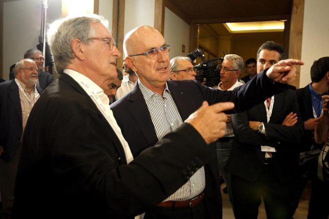 Josep Antoni Duran Lleida junto a Xavier Trias, anoche
