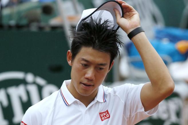 Nishikori, tras su derrota en primera ronda.