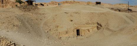 Entrada de la tumba de Min.