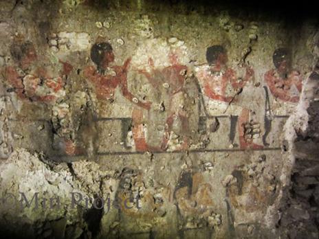 """Una escena de banquete """"típica"""" de las tumbas del Reino Nuevo."""