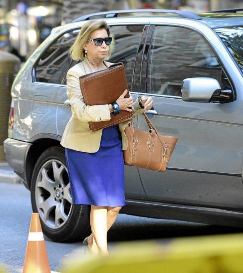 Munar llegando al juicio por el 'caso Can Domenge' el pasado...