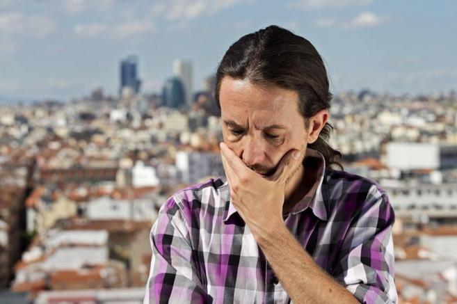 Pablo Iglesias, durante la entrevista concedida a este periódico.