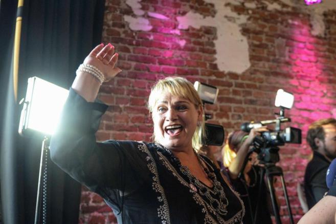 Soraya Post, eurodiputada por el partido Iniciativa Feminista, en...