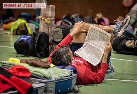Una de las imágenes recogidas en el blog de #periodistas22M