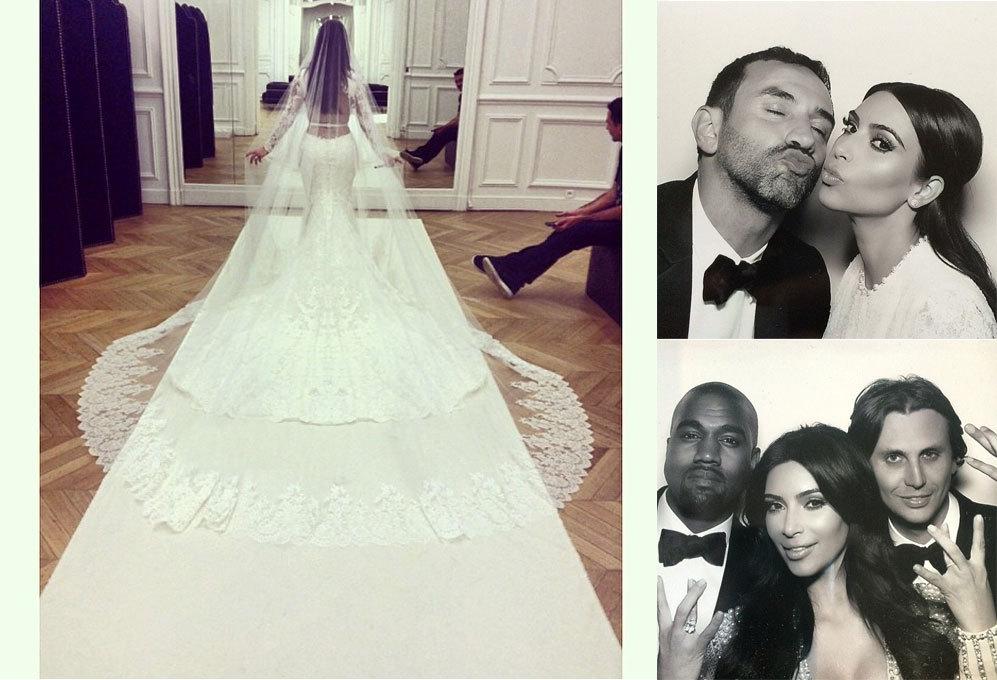 kim kardashian presume de curvas vestida de novia - también el