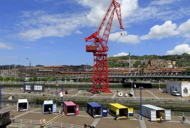 Vista de los muelles del Museo Marítimo de Bilbao donde hoy se ha...