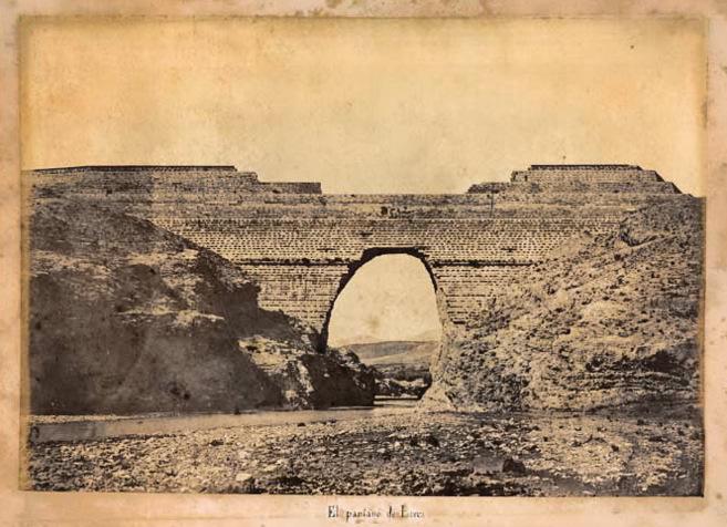 Retrato de Prieto Caules y presa del pantano de Puentes tras una...
