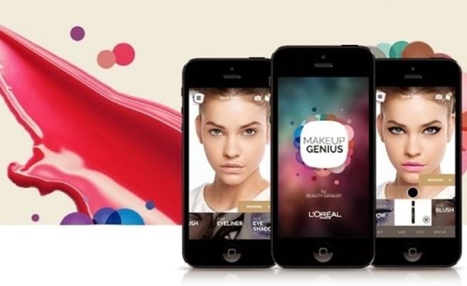 La aplicación Makeup Genius, de L'Oréal, que simula el...