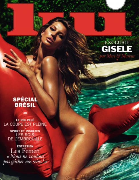 Gisele, en la portada de 'Lui', retratada por Mert &...