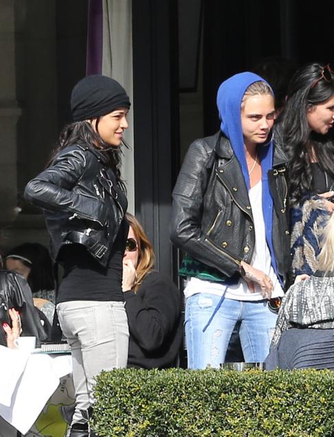 La actriz y la modelo, el pasado marzo.