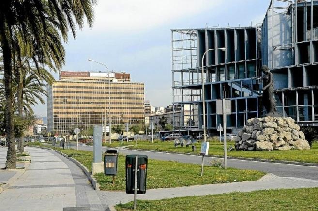 La antigua sede de Gesa y la construcción del nuevo Palacio de...