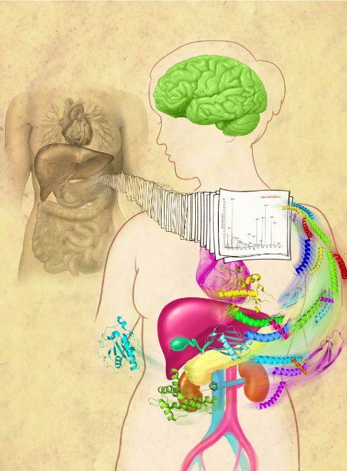 Interpretación artística del proteoma humano.