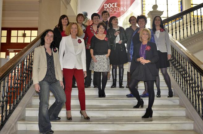 Las doce impulsoras del 'blog' 'Doce Miradas'...