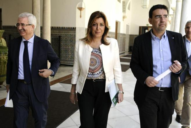Susana Díaz, esta mañana en Sevilla.