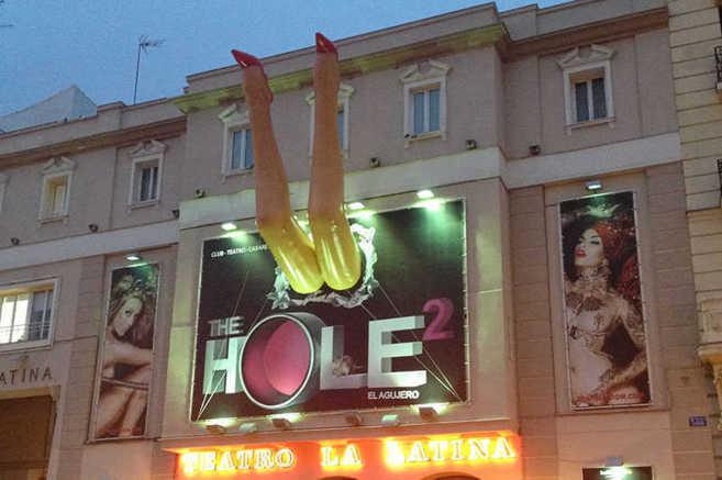 Exterior del Teatro la Latina, donde se ha representado el musical...