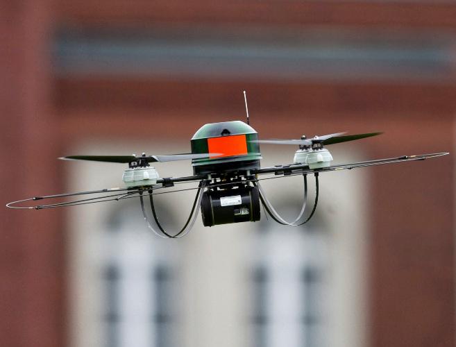 El 'drone' anticrímenes de Berlín.