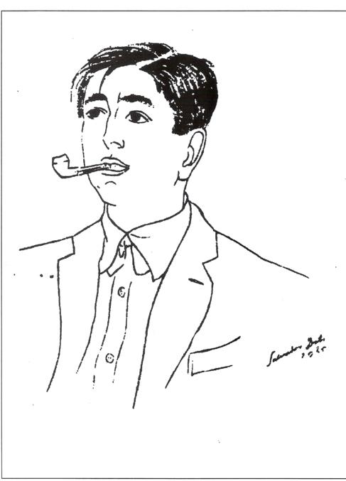 Retrato de José María Hinojosa realizado por Salvador Dalí.