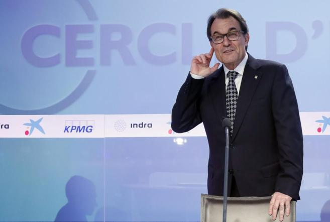El presidente de la Generalitat, Artur Mas, ayer en el Círculo de...