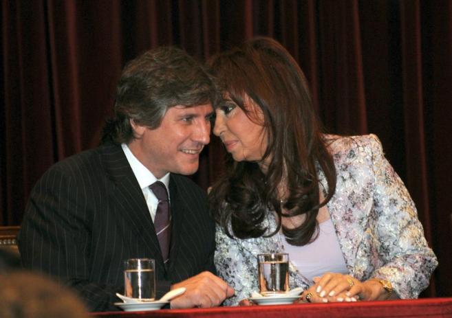 Boudou y Kirchner, durante una reunión en Buenos Aires.