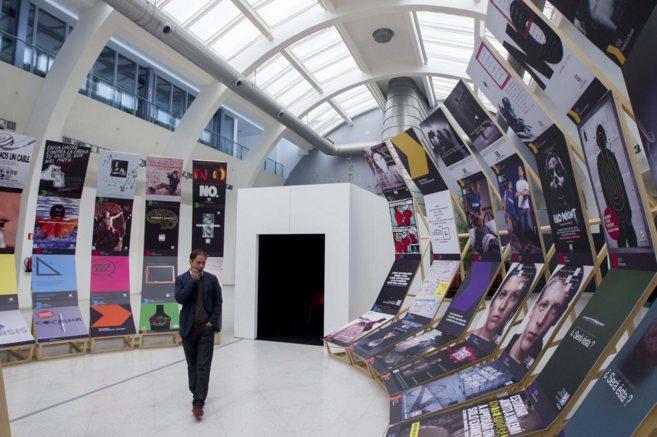 En el edificio Ensanche,   inauguración de la exposición FAD.