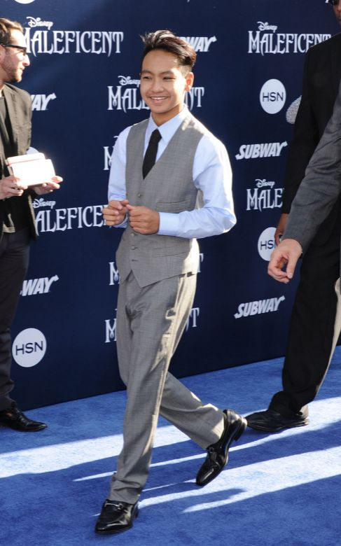Maddox, en el estreno de la película 'Maléfica'.