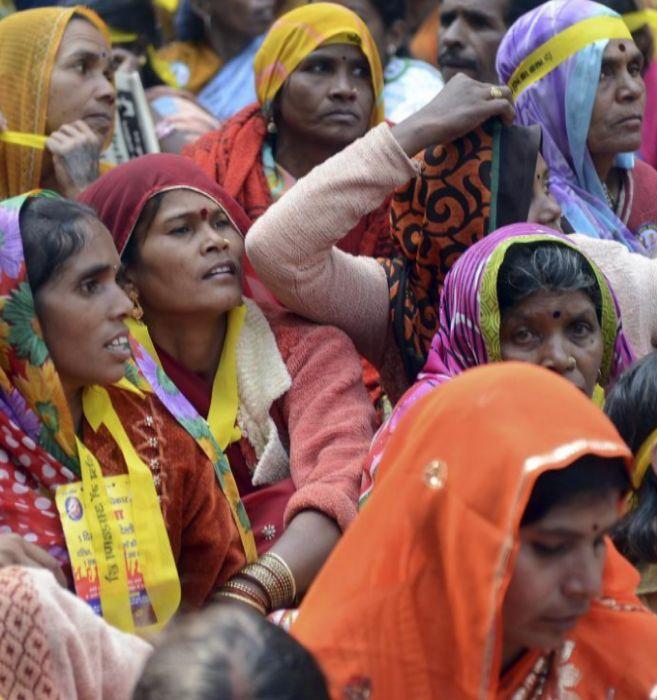 Mujeres pertenecientes a la casta dalit.