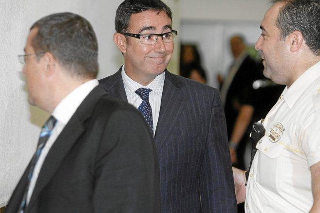 Torres a su llegada a los Juzgados de Vía Alemania de Palma en julio...