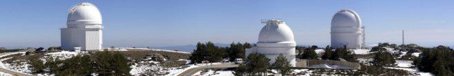 Observatorio astronómico de Calar Alto, en la Sierra de los Filabres...