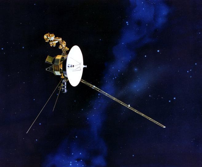 Recreación artística de la sonda Voyager 1.