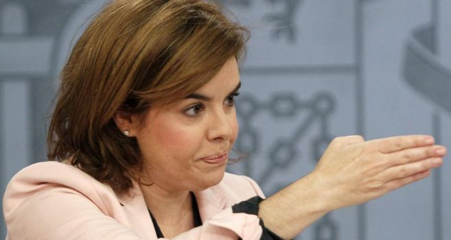 La vicepresidenta del Gobierno, Soraya Sáenz de Santarmaría