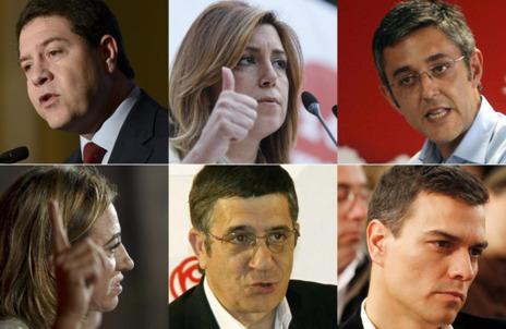 Posibles candidatos a la secretaría general del PSOE