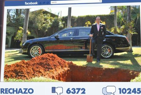 El anuncio en Facebook de que iba a enterrar su coche.