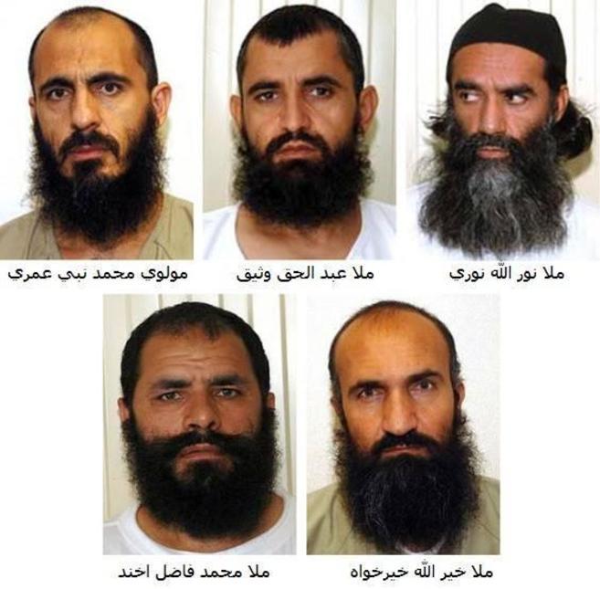Los cinco talibán liberados de Guantánamo, según Wikileaks