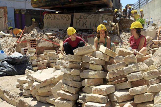 Trabajos de reconstrucción de Can Vies