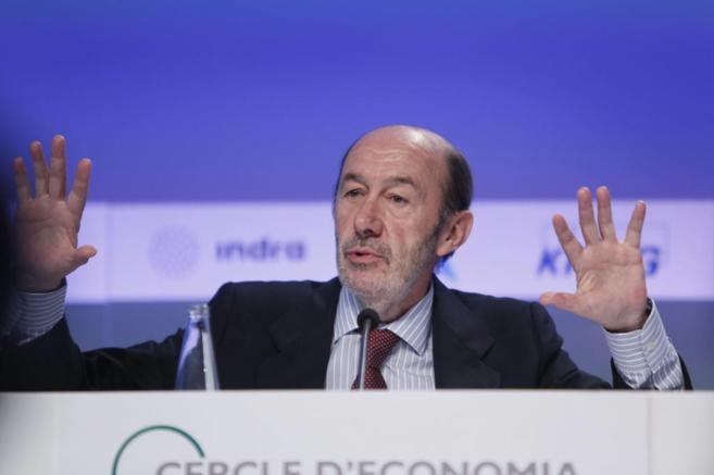 El líder del PSOE, Alfredo Pèrez Rubalcaba.