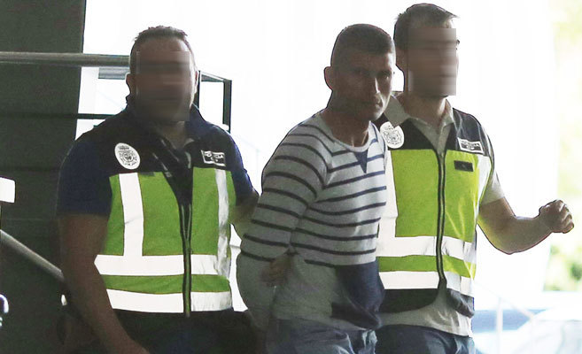 Donasu P., detenido ayer en Valencia por el presunto asesinato de su...