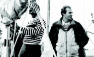 José Cusí y Juan Carlos I a bordo del Bribón IV.