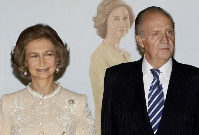 Doña Sofía y Don Juan Carlos, en un acto del 70 cumpleaños de la...