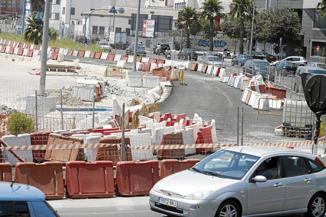 Obras en el acceso sur de Alicante.