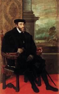 El emperador Carlos I de España por Tiziano.