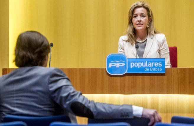 En el ayuntamiento de Bilbao Rueda de prensa de la portavoz del PP de...