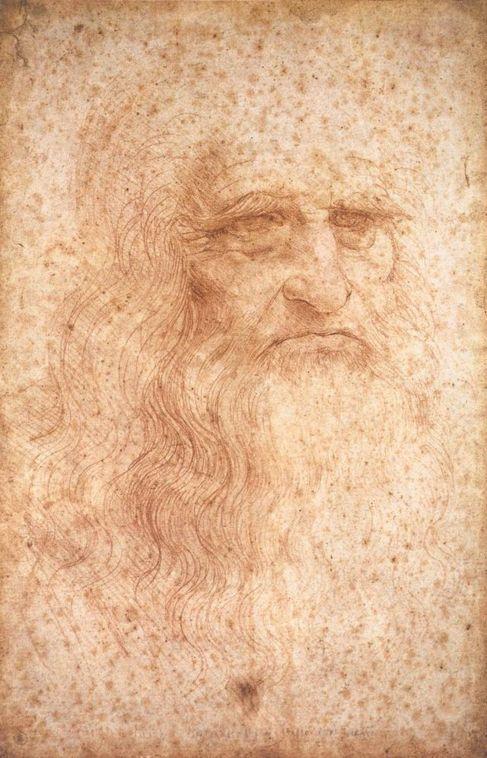 Da Vinci pintó su autorretrato con tiza hacia 1513.