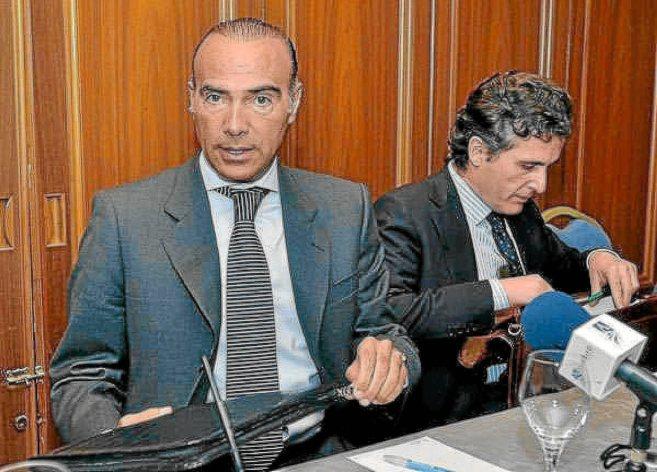 Luis Oliver y Jaime Rodríguez Sacristán, cuando eran directivos del...