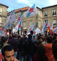 Manifestación en Santiago.